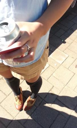 Ohhh knee socks. Knee socks!