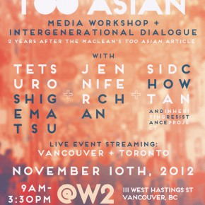 Happy Too Asian: Celebrating Activism Against Racism in Media @ W2 - Nov 10, 2012