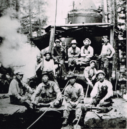 Japanese Canadian logging camp Watada family
