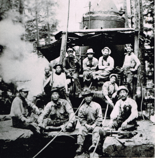 Japanese Canadian logging camp Watada family